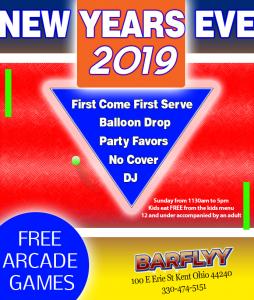 New Years Eve -Barflyy 2019