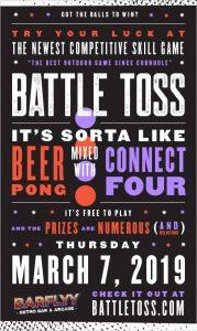 Battle Toss Kent Barflyy